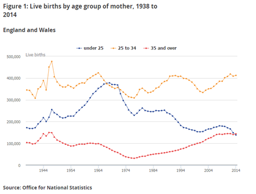 Live births by mothers age (1)